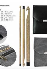 Lykke Lykke Crochet Hook Set Black Faux Leather