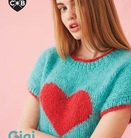Debbie Bliss Conway & Bliss Heart Sweater Pattern