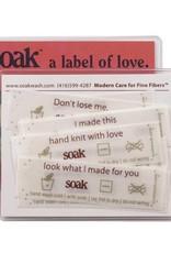 SOAK Soak Care Labels