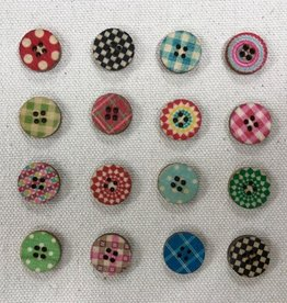 "Big Bad Wool Big Bad Wool Paperdolls 5/8"" Buttons"
