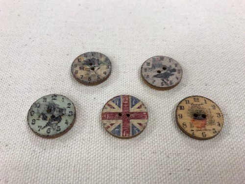 "Big Bad Wool Rustic Time 3/4"" Buttons By Big Bad Wool"