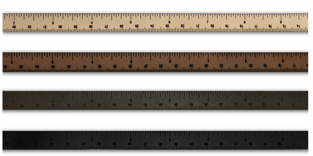 ILOVEHANDLES Wrist Ruler in Medium Brown Size 16""