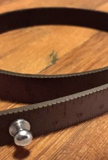 ILOVEHANDLES Wrist Ruler in Dark Brown Size 16""