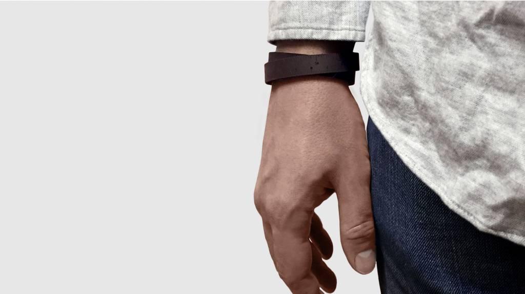 "ILOVEHANDLES Wrist Ruler in Dark Brown Size 15"""
