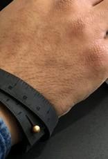 "ILOVEHANDLES Wrist Ruler in Black Size 16"""