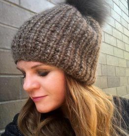 Fisherman Rib Hat w/Pom Pom