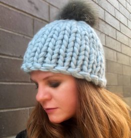 Woolly&Co. Birmingham Beanie with Pom - light blue
