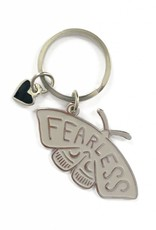 shelli Can Fearless Moth Keychain (Ivory)