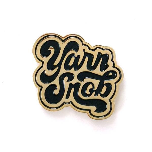 shelli Can Yarn Snob Pin (BLack)