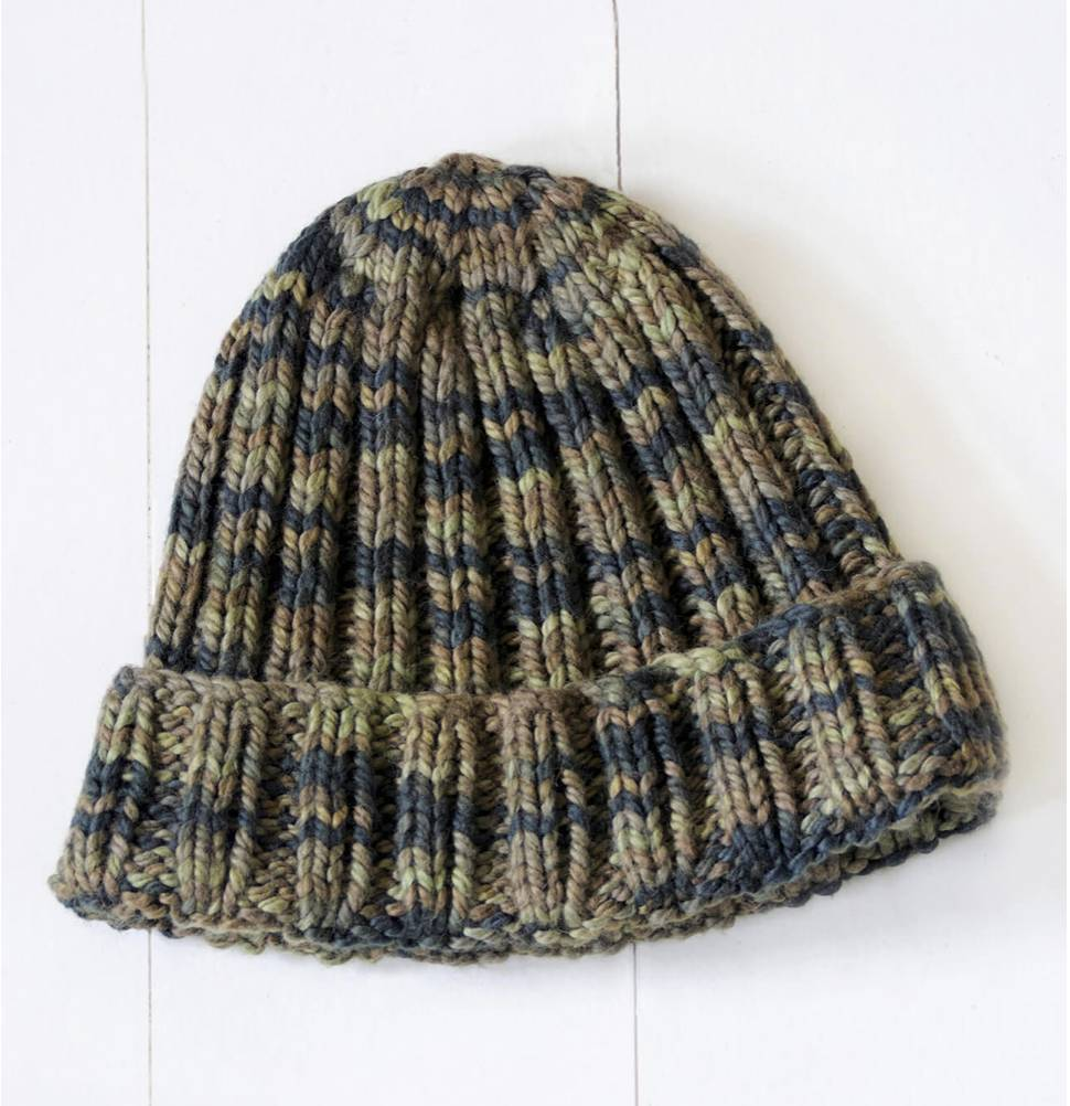 Blue Sky Fibers Camo Hat Pattern