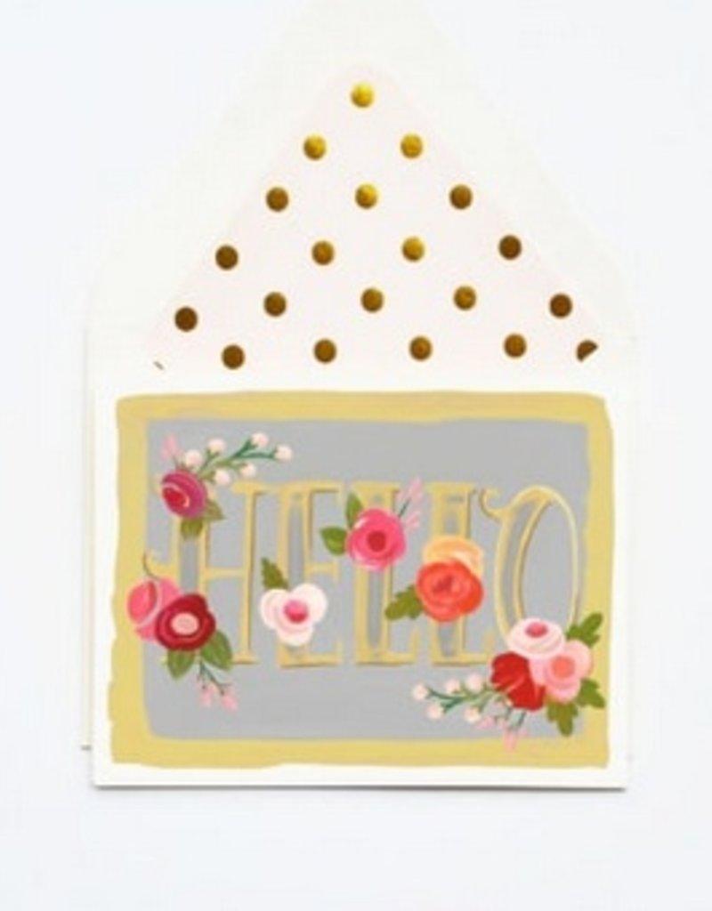 Card - Floral Hello