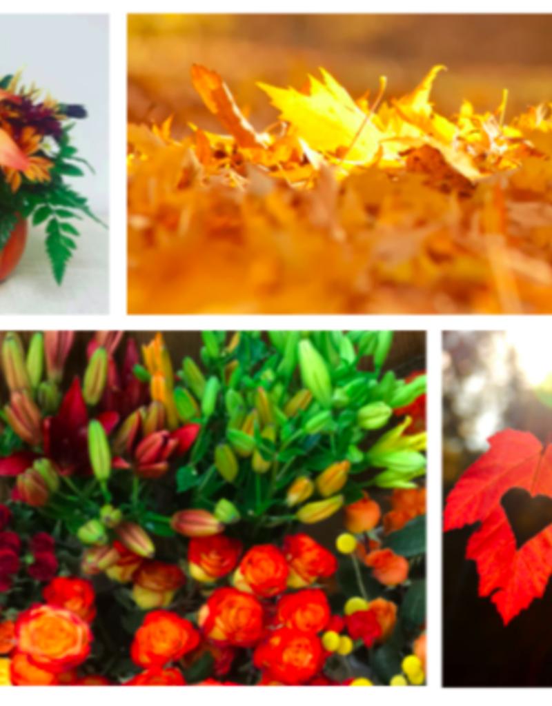 Class:  October 25th - Floral Design  in a Ceramic Vase