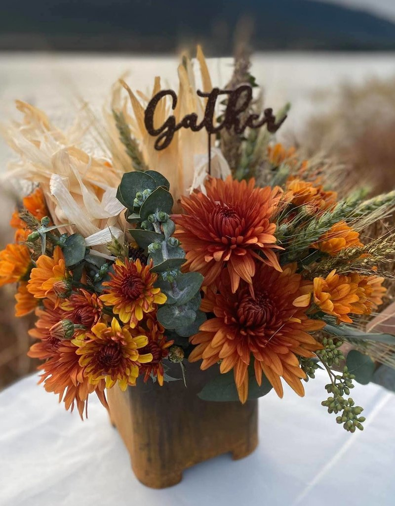 Class:  November 24th - Thanksgiving Centerpiece