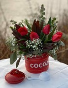 Class:  December 7th - Cocoa, Cookies and Milk Floral Design