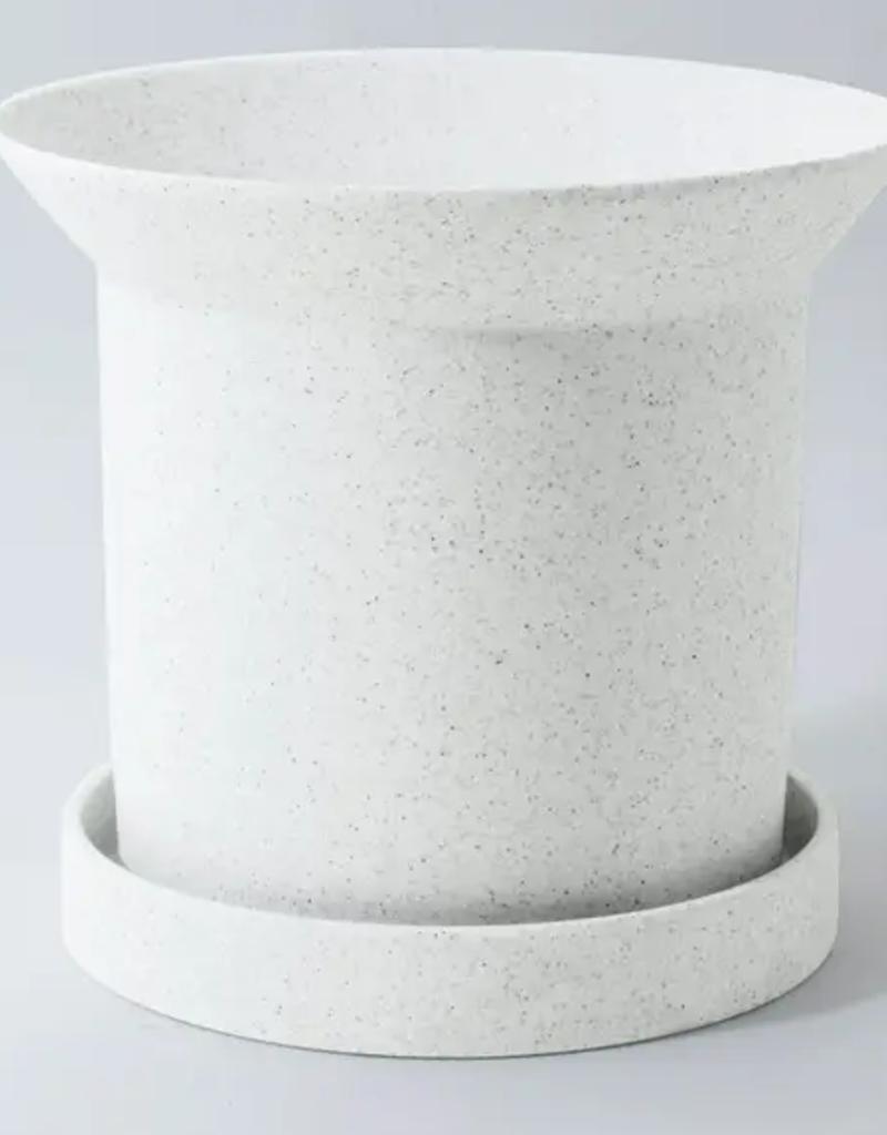 "Planter - Sandstone - 9"" x 10"" - White"