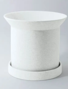 "Planter - Sandstone - 6"" x 7"" - White"