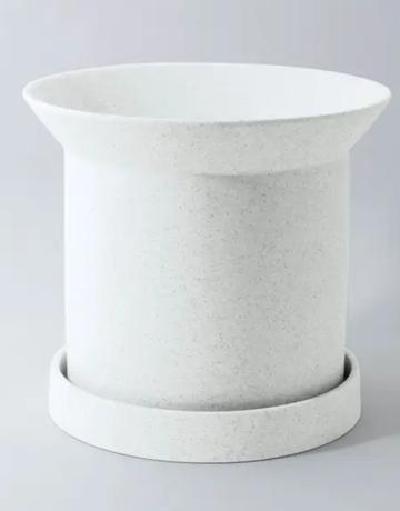 "Planter - Sandstone - 6"" x 7"" - White"