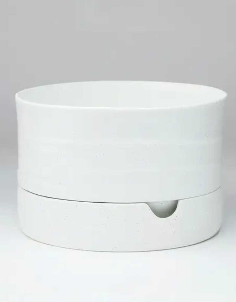 "Planter - Self Watering - 6"" x 9"" - White Speckle"