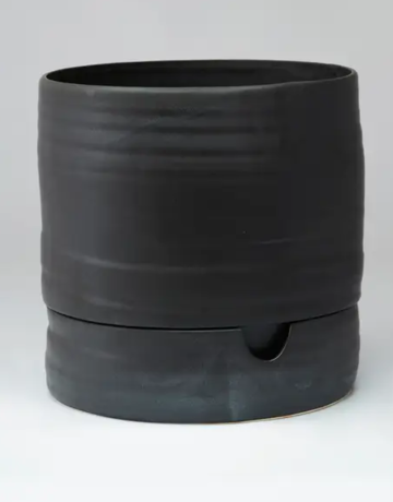 "Planter - Self Watering  - 9"" x 9"" - Matt Black"