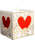 Candle - Haring Art - Red Heart with Gold