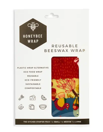 Honeybee Wrap - Pack of 3 Kitchen Starter