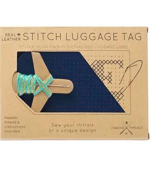 DIY - Leather Cross Stitch Luggage Tag