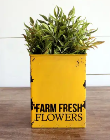 Flower Tin - Farm Fresh