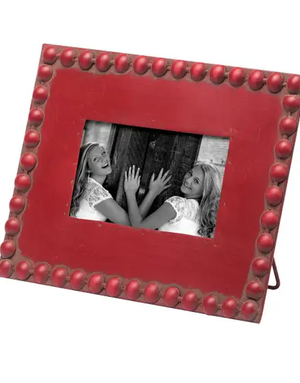 """Picture Frame - Beaded - Red - 4"""" x 6"""""""