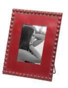 "Picture Frame - Beaded - Red - 5"" x 7"""