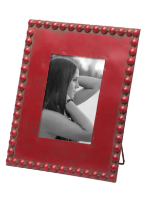 """Picture Frame - Beaded - Red - 5"""" x 7"""""""