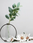 Keystone Bud Vase with Single Red Rose