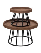 Set of Risers - Wood & Metal