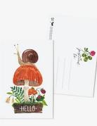 Oana Befort - Hello Snail Postcard