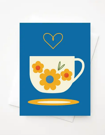 Amber Leaders Designs - Fika Cup Card