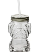 Jar - Mad Dog with Straw and Silver Lid