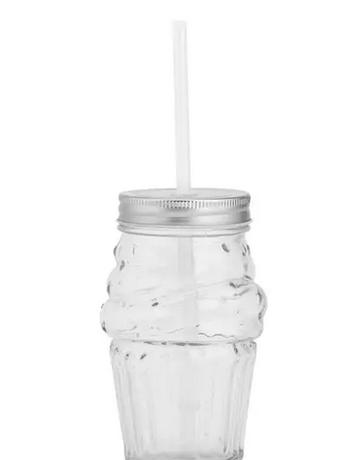 Jar - Ice Cream - Silver Lid
