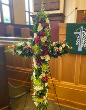 Celebration of Life - Oasis Cross on Stand - 36""