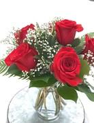The Traditional Half-Dozen Roses