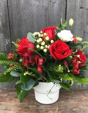 Platinum Half-Dozen with Premium Flowers and Accents