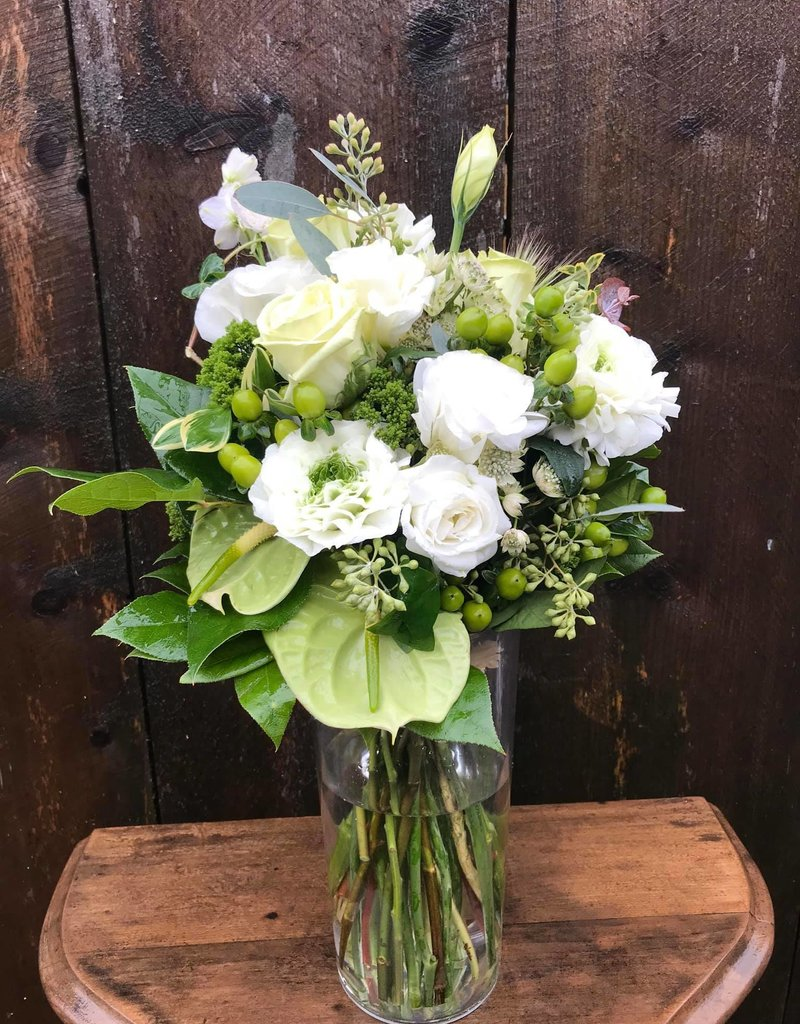 Platinum Bouquet in Vase