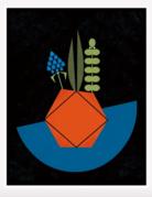 Amber Leaders Designs - Modern Succulent Print - Short - 5 x 7