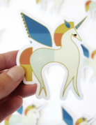 Amber Leaders Designs - Unicorn Sticker