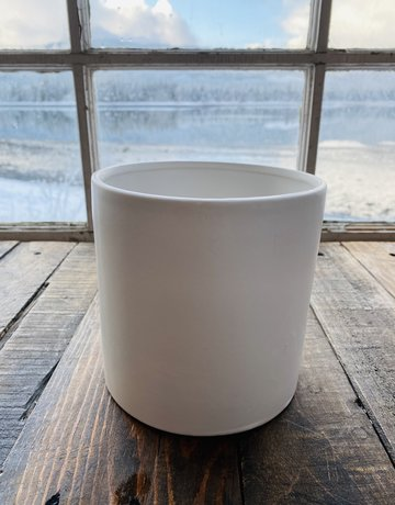"Planter - 6"" in White Ceramic"