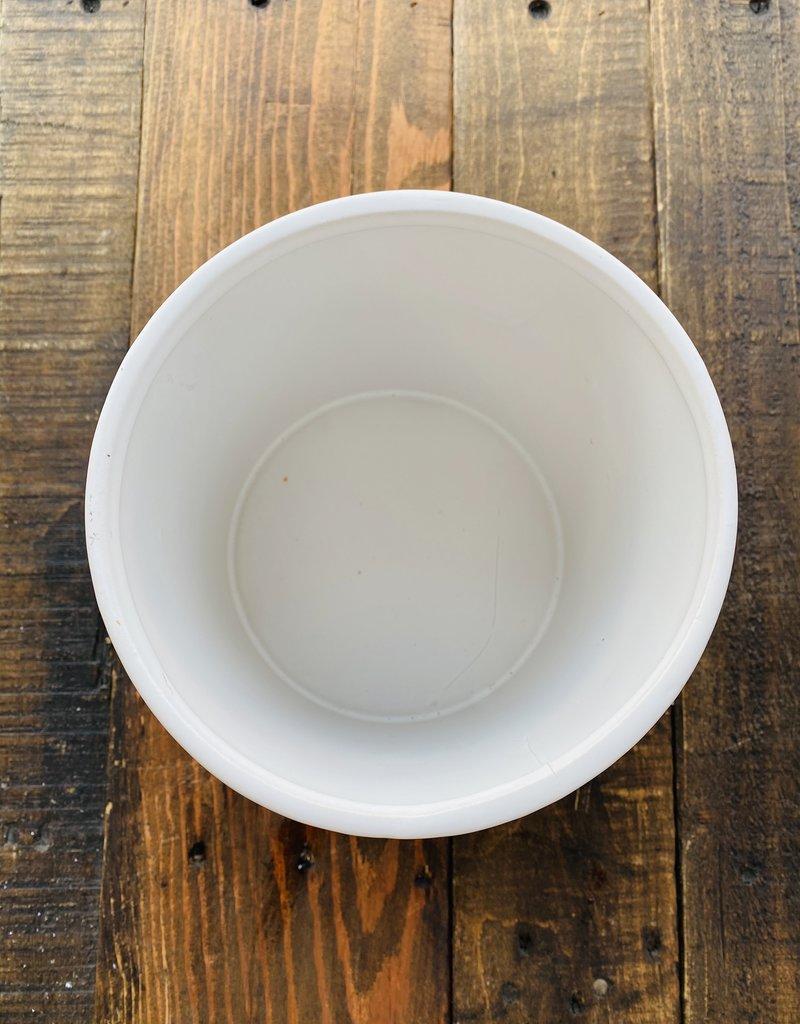 "Planter - 6"" in White Ceramic"