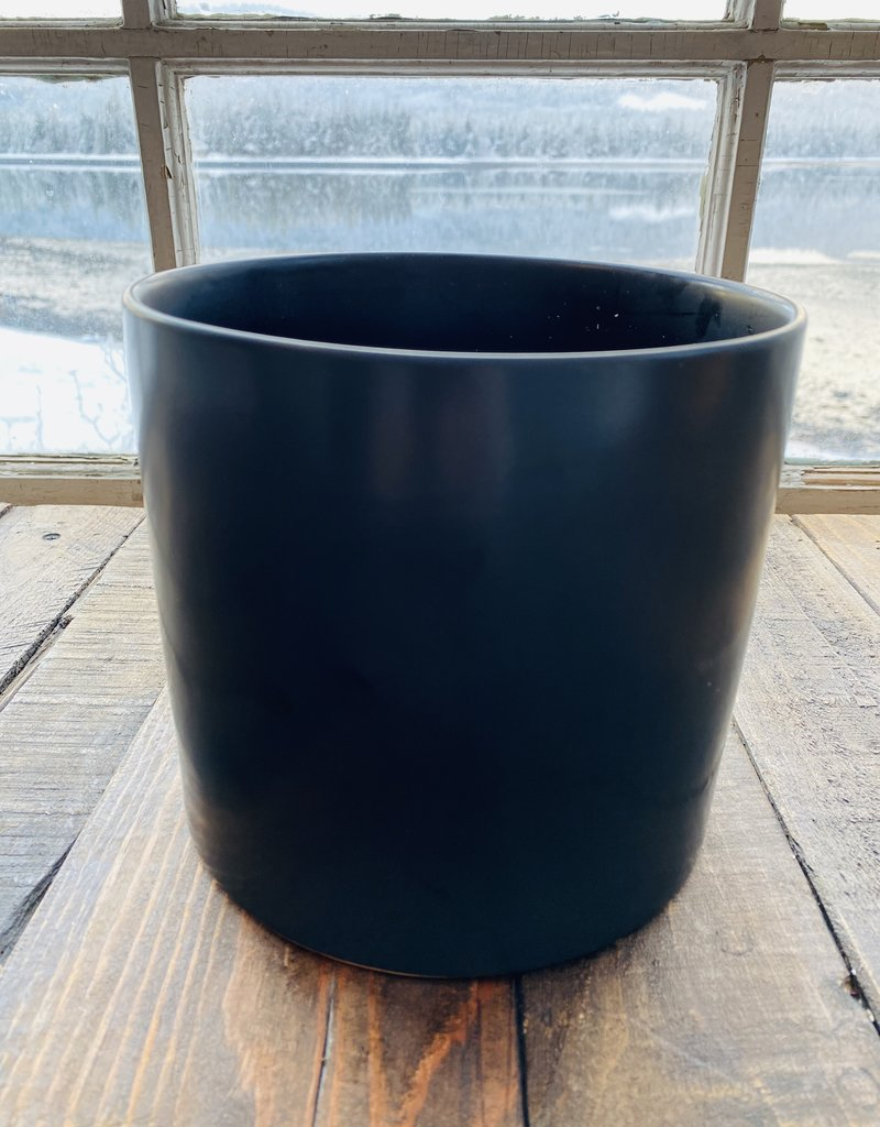 "Planter - 6.5"" in Black Ceramic"