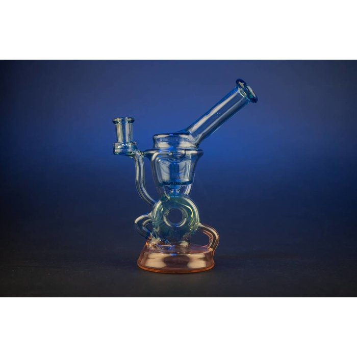 Wolfe Glass Mini Donut Gill Recycler Exp 31/ Celestial