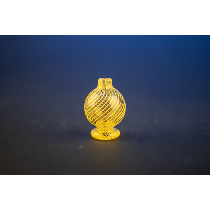 Liquid Glass Art Peach Twist Bubble Cap