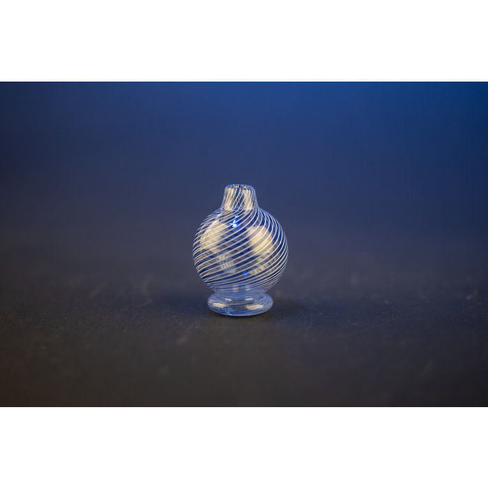 Liquid Glass Art Light Cobalt Twist Bubble Cap