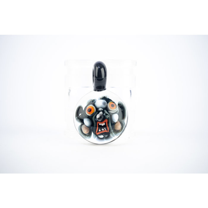 DWRECK Face Implosion Orange Eyes Pendant