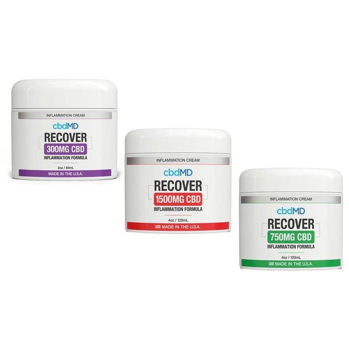 CbdMD Recover 750mg Inflamation Formula 4oz Tub